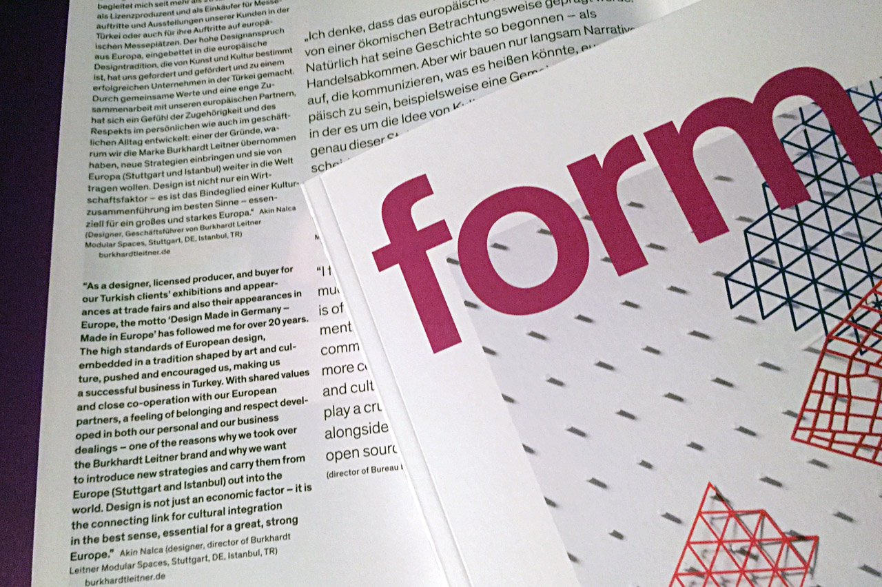 """Form Magazine new issue focuses on """"meaning of design for Europe"""""""