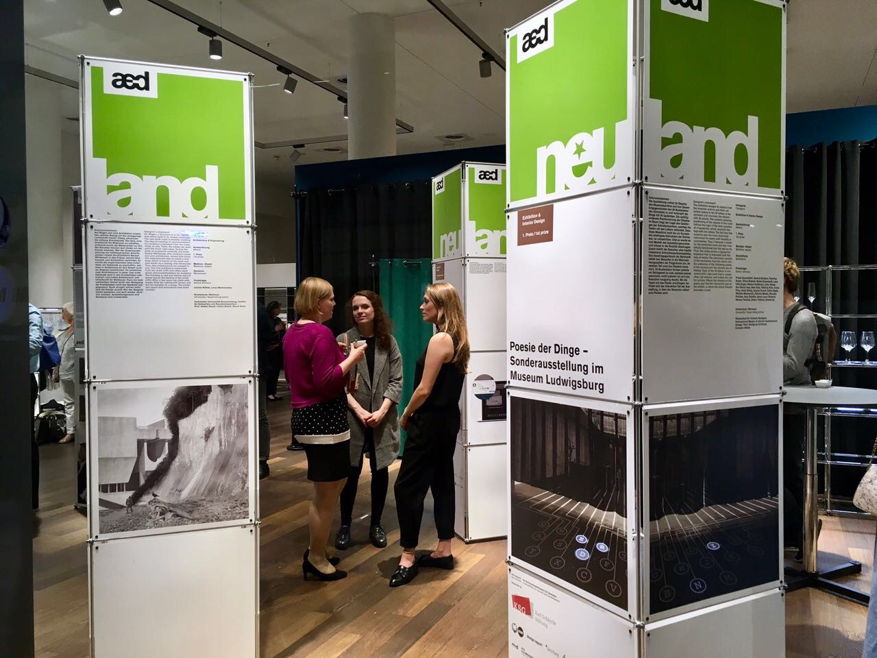 Burkhardt Leitner Modular Spaces sponsors ''the aed neuland Young Students Competition'' Exhibition